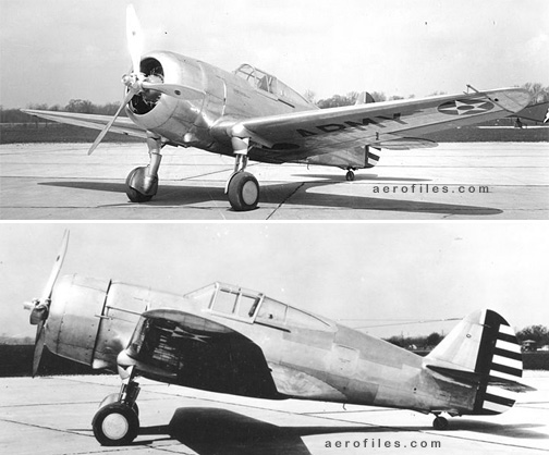 Curtiss Y1P-36 (USAAC Wright Field)